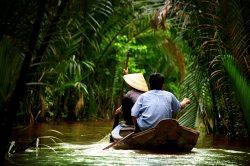 Mekong Delta riding sampan