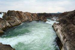 Stung Treng natural waterfall Cambodia