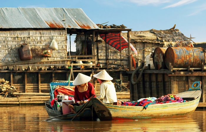 Panorama of Cambodia with Highlight in Tonle Sap River
