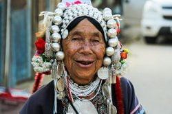 An ethnic woman in Chiang Rai Thailand