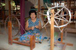Ban Khok Mo weaving village in Thailand