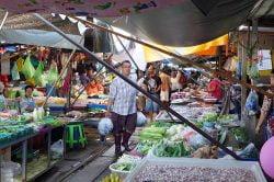 Maeklong railway market - Highlights of Thailand tour