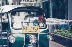 A tuktuk taxi in Phuket Thailand