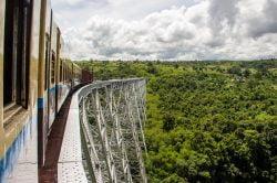Gokteik train Myanmar