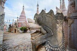 A statue in Kakku Myanmar