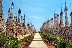 Taunggyi pagoda in Kakku Myanmar