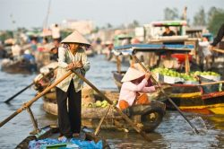 Cai Be floating village in Mekong Delta - Vietnam-Laos-Cambodia tour with Hanoi Voyages