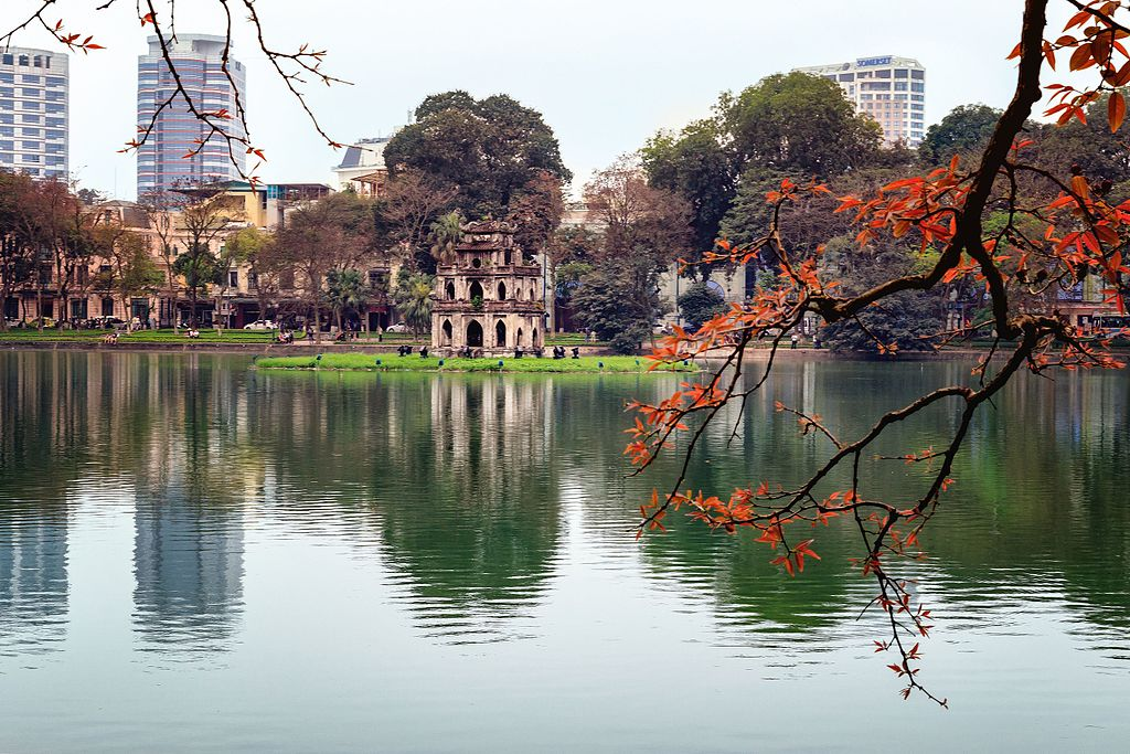 Hoan Kiem Lake in fall
