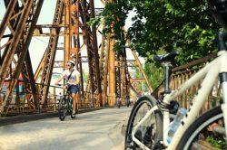 Hanoi is a friendly city to bike around.