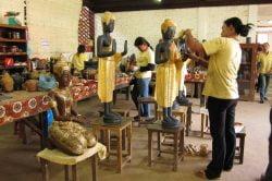 Artisans d'Angkor at Les Chantiers Ecoles (Siem Reap) - Vietnam-Laos-Cambodia tour with Hanoi Voyages