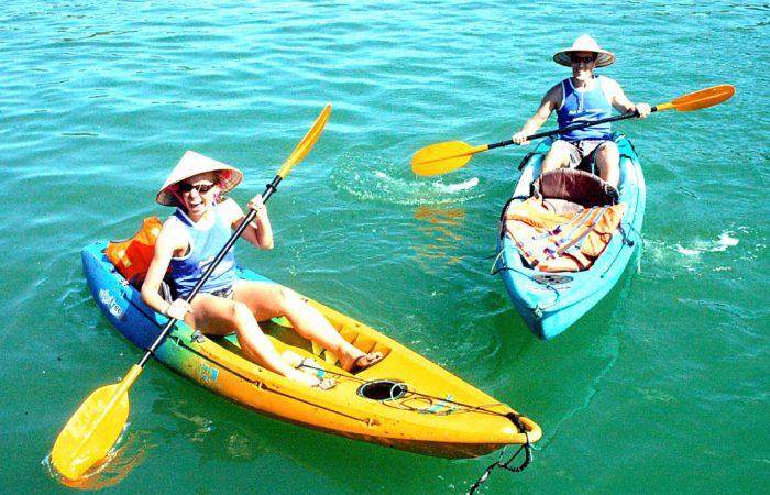 Go kayaking at Halong Bay - Essential Vietnam Tour