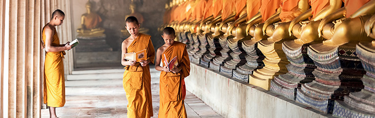 Tailor-made holidays monks cambodia temple