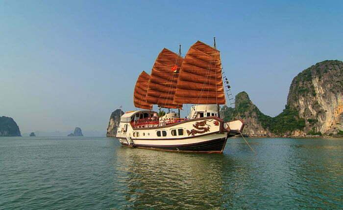 Halong Bay Luxury Cruise Red Dragon Junk