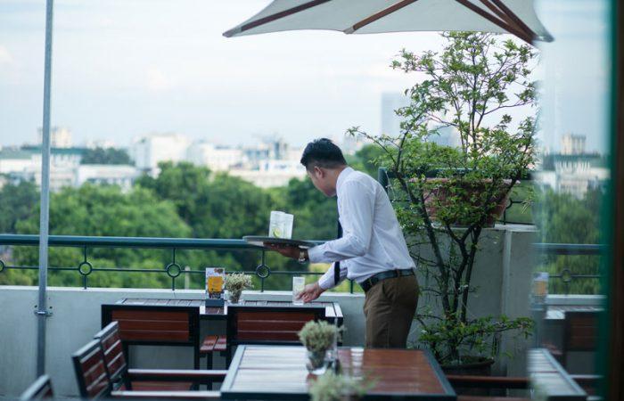 Hanoi Pearl Hotel rooftop lounge