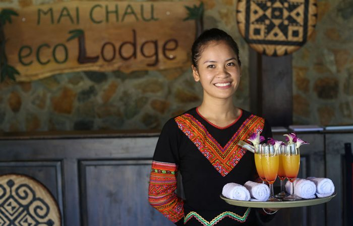 Ethnic employee of Mai Chau Ecolodge