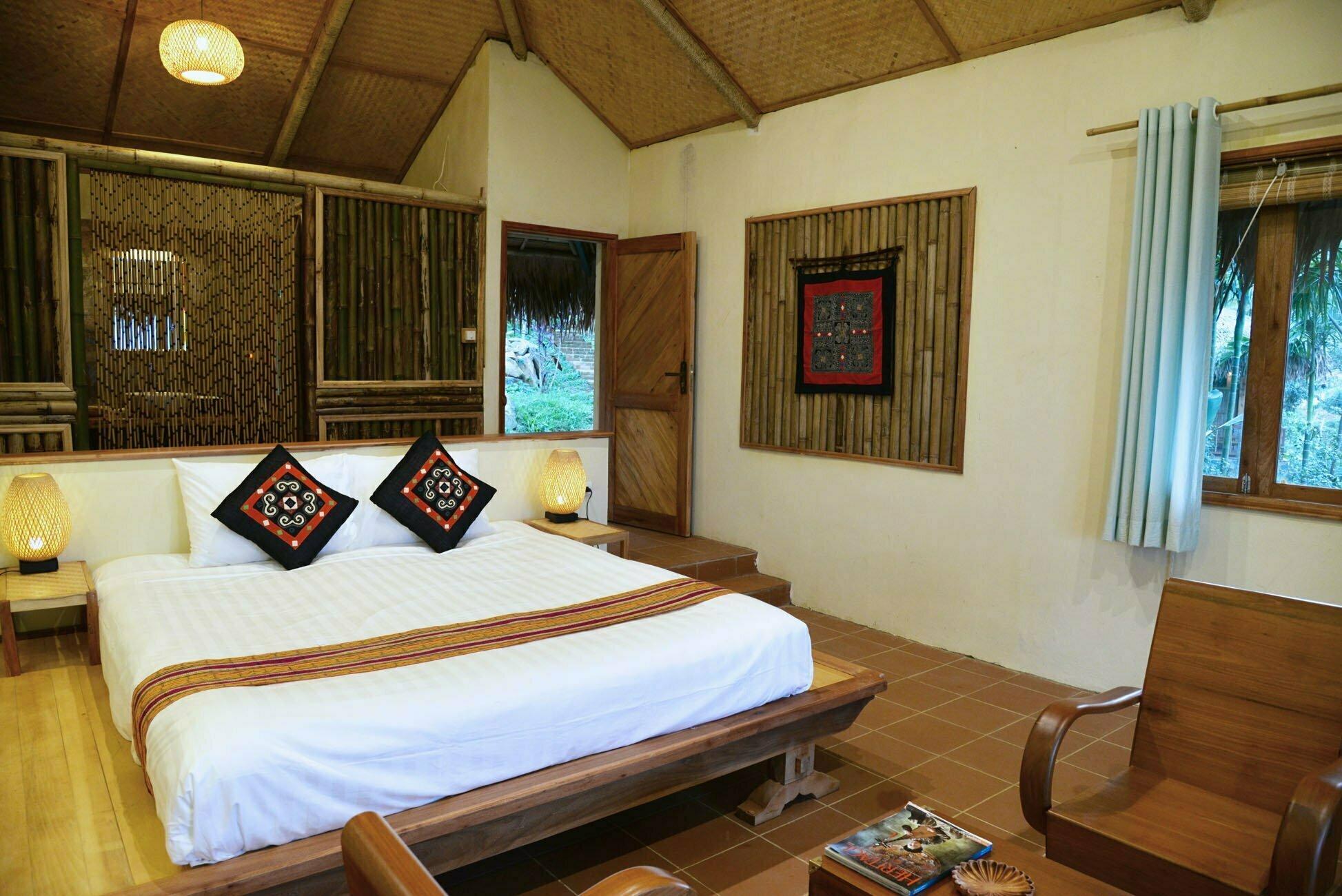 Pu Luong bungalow room