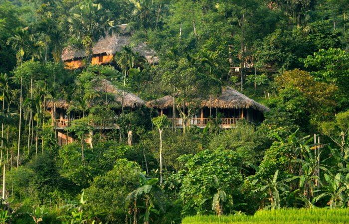 Pu Luong houses lying on the hills
