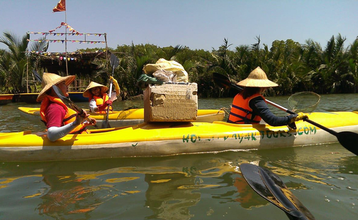 tours by locals river clean up hoian