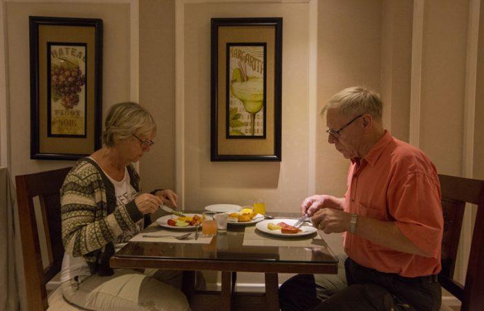 Buffet breakfast choices of Gondola Hotel