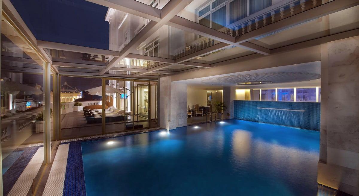 hotel de l opera hanoi indoor pool in Hanoi