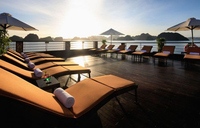 Sundeck on Perla Dawn Cruise on Lan Ha Bay