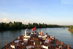 dinner on bassac river cruise