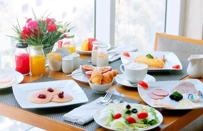 excellent breakfast in sky restaurant - harmony saigon hotel