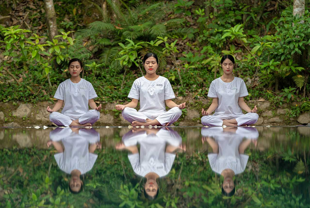 pilgrimage village resort - yoga class