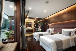 Enjoy Orchid Cruise on Lan Ha Bay Suite Cabin with Balcony