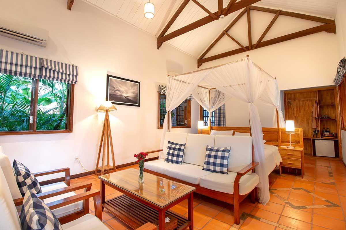 Interior of room in Cassia Cottage Phu Quoc