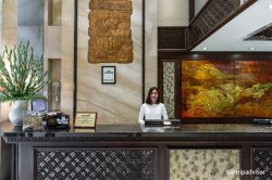 Front-desk at Golden Lotus Luxury Hotel