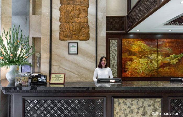 Front-desk at Golden Lotus Luxury Hotel