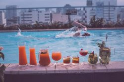Alagon City Hotel Outdoor Pool with Drinks