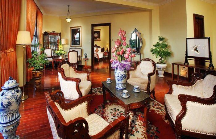 Saigon Morin Colonial Deluxe Fancy Seating Area